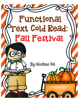 Cold Read: Functional Text Freebie