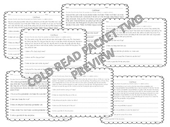 Cold Read Stories Packet 2