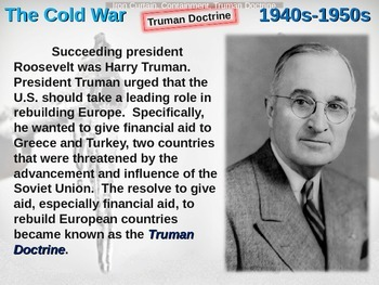 Cold War (40s-50s) Iron Curtain-Containment-Truman Doctrin