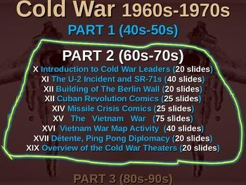 Cold War (60s-70s) HUGE VIETNAM WAR PowerPoint (75 slide PPT)