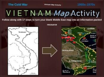 Cold War (60s-70s) VIETNAM WAR MAP ACTIVITY (20 slide PPT)