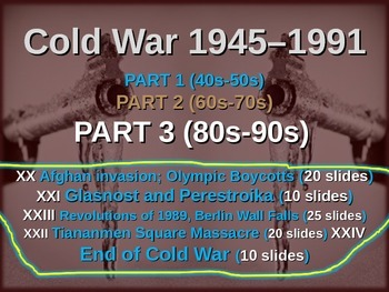 Cold War (80s-90s) ALL 5 engaging, highly visual PPTs (85