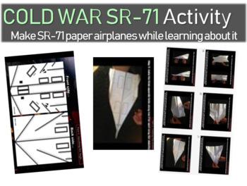 Cold War Activity - SR-71 paper-airplane blueprints, facts