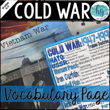 Cold War Coloring Page and Review Activity