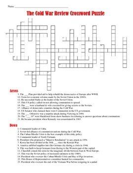 Cold War Crossword Puzzle