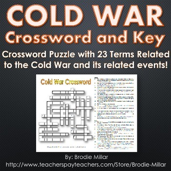 Cold War Crossword Puzzle and Key (23 Terms and Clues)
