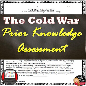 Cold War Introduction - Ideologies CLOZE Notes Activity
