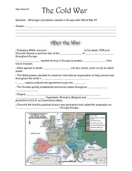 Cold War Lecture Presentation Note Sheet #1 of 5