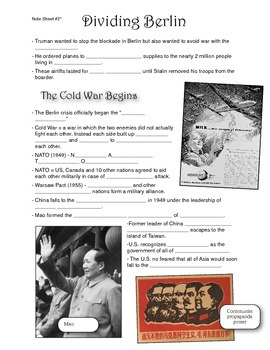 Cold War Lecture Presentation Note Sheet #2 of 5
