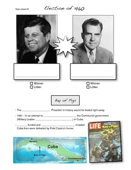 Cold War Lecture Presentation Note Sheet #4 of 5