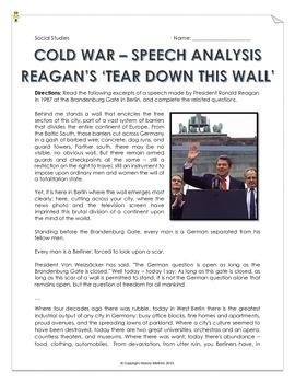 Cold War - Reagan's 'Tear Down This Wall!' - Speech Analys