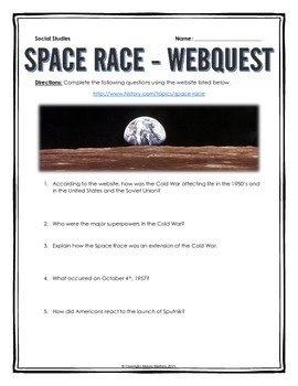 Cold War - Space Race - Webquest with Key