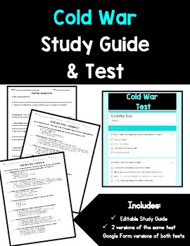 Cold War Study Guide and Test