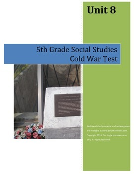 Cold War Test--5th Grade Social Studies