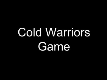 Cold Warriors Simulation