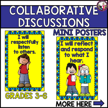 Collaborative Discussions!  Mini Posters for Expectations