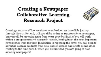 Collaborative Research Project - Creating a Newspaper