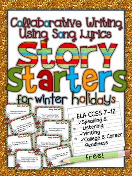 COLLABORATIVE WRITING USING SONG LYRICS: STORY STARTERS FO