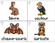 Collection Mur de mots - Les animaux (FRENCH Animal Word W