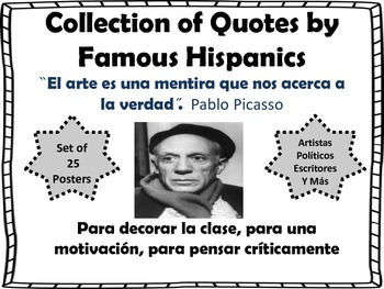 Collection of Quotes by Famous Hispanics Bulletin Board Set