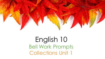 Collections Unit One Bell Work