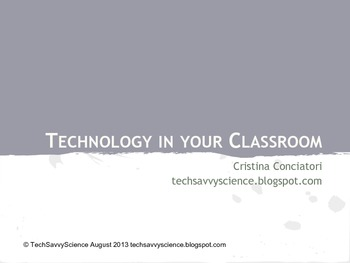 Collections of Technology Resources for your Classroom