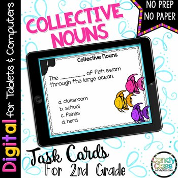 Collective Nouns Digital Task Cards for Google Use