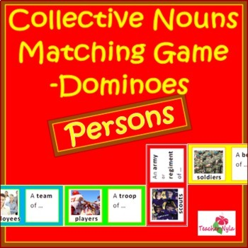Collective Nouns Dominoes Matching Game - Persons