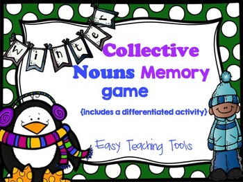 Collective Nouns Memory game and extension activities {CCSS}