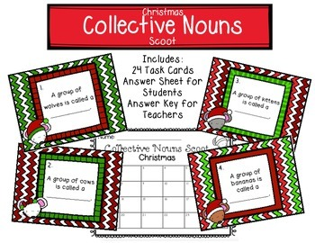 Collective Nouns Scoot Christmas