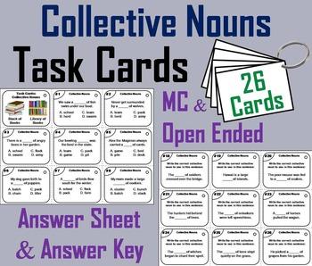 Collective Nouns Task Cards/ Collective Nouns Activity/ Gr