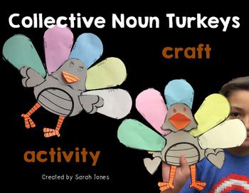 Collective Nouns Turkey Craftivity