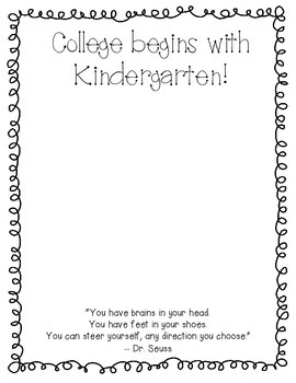College Begins with Kindergarten frame for Kinder Graduation