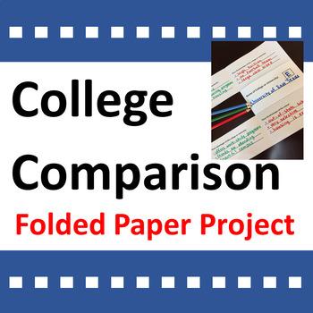 College Comparison Activity / Folded Paper Project