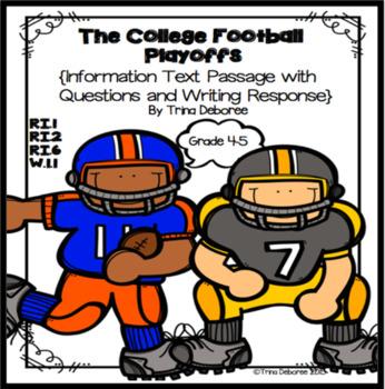 College Football Playoffs {Informational Text Close Read}