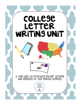 College Letter Writing Unit: Regions of the United States