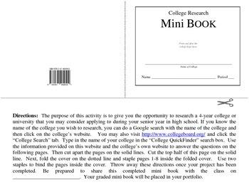 College Research Mini Book