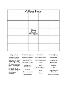 College Vocabulary and Introduction to College