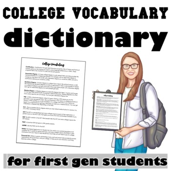 College Vocabulary for First Generation Students Packet