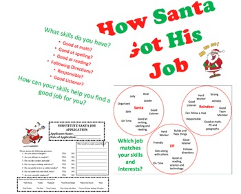 College and Career Awareness Lesson Elementary How Santa g
