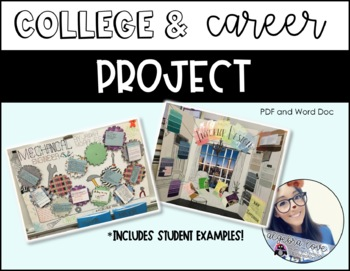 College and Career Project *EDITABLE* Math in their career