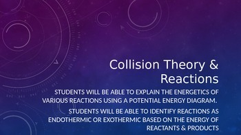 Collision Theory and Reactions PowerPoint (Goes along with