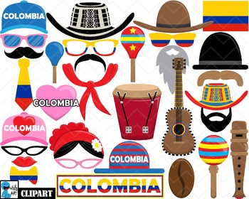 Colombia Props - Clip Art Digital Files Personal Commercia