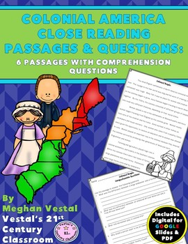 Colonial America Close Readings & Questions
