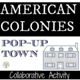 American Colonies Pop-Up Town Station Activity or Collabor