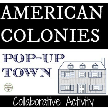 American Colonies Pop-Up Town Station Activity or Collaborative Project
