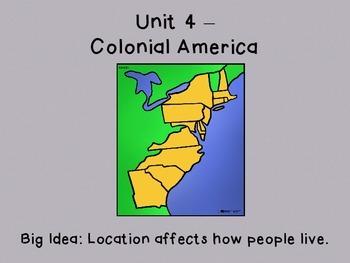 Colonial America Unit 4 McGraw Hill 5th Grade Florida Soci