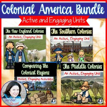 Colonial America Unit Bundle: New England, Middle, Southern, and Comparisons