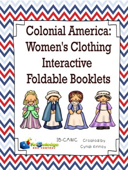 Colonial America:  Women's Clothing - EBOOK - for 3rd Grade