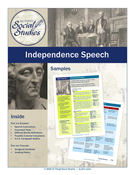 Colonial Independence Speech